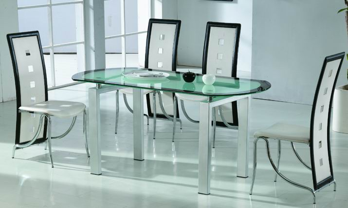 Glass furniture hamilton glass products for Glass dining table designs