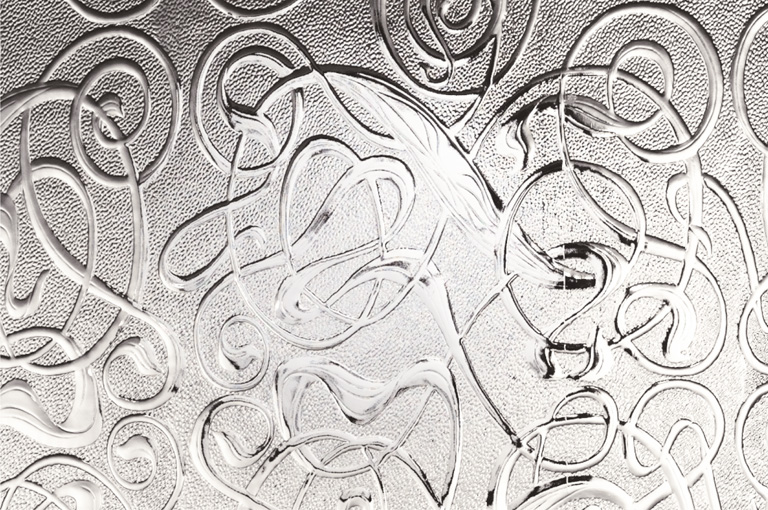 """Patterned Glass """"Everglade"""""""