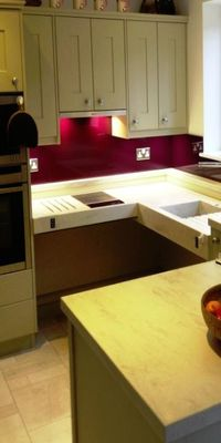 An example image of glass Splashback produced and installed by Hamilton Glass Products Ltd